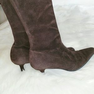 {Stuart Weitzman} Brown Suede Leather Boots
